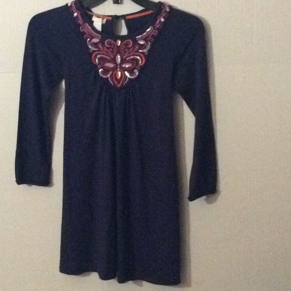 Monsoon Other - NWT Monsoon, Blue L/S & embroidery dress # 9/10 Yr